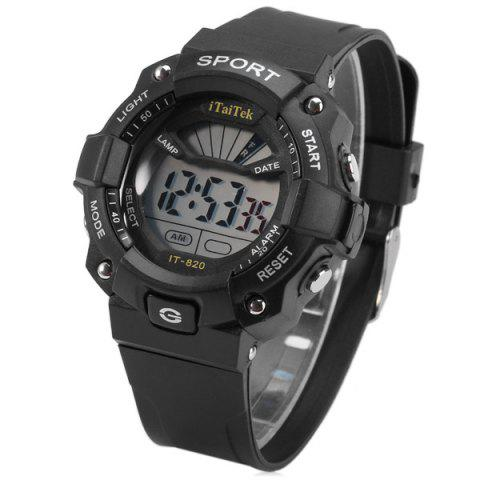 Outfit iTaiTek IT - 820 Sports LED Watch 50M Water Resistant Date Week Alarm Chronograph Wristwatch - BLACK  Mobile
