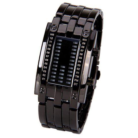 Hot Waterproof Watch with Blue Light Time-Date Indicate Steel Watchband for Women