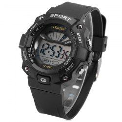 iTaiTek IT - 820 Sports LED Watch 50M Water Resistant Date Week Alarm Chronograph Wristwatch