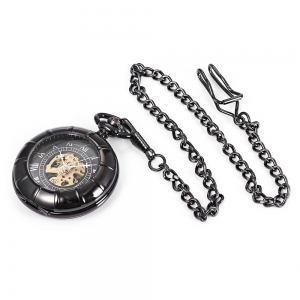 Round Shape Roman Numbers Indicate Vintage Mechanical Flip Pocket Watch -