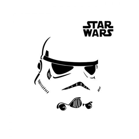 New w-12 Stormtrooper Style Removable Wall Sticker Water Resistant Home Art Decals