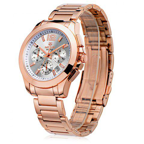 Outfit MEGIR 5006 Water Resistant Male Japan Quartz Watch with Stainless Steel Strap Working Sub-dials