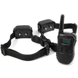 M82 300m 100 Levels Electric Shock Remote Dog Training Collar for 2 Dogs - 90 - 264V