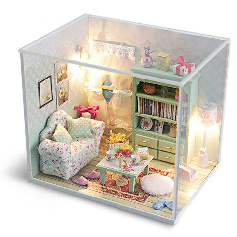 Creative DIY Wooden Miniature Doll House Furniture Toy Handmade Room Model Practical Birthday Gift - AS THE PICTURE SIZE 1