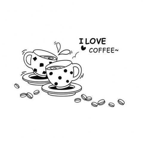 Outfits I Love Coffee Style Wall Sticker Home Appliances Decor Wall Decals BLACK