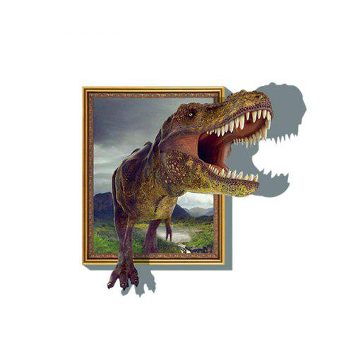 Hot 3D Dinosaur Style Removable Wall Stickers Colorful Room Window Decoration for Bedroom Store AS THE PICTURE SIZE 3