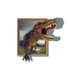 3D Dinosaur Style Removable Wall Stickers Colorful Room Window Decoration for Bedroom Store - AS THE PICTURE
