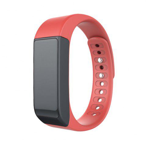 Shop I5 Plus Smart Bracelet IP65 Bluetooth 4.0 Watch Wristband Sleep Monitoring Sports Tracking Remote Camera - RED  Mobile