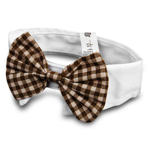 Pet Supplies Cats Dog Bow Tie Collar with Bowknot Design Wedding Holiday Decoration - Colormix - No.03