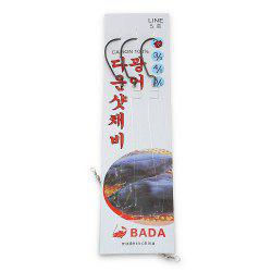 3pcs BADA 5 / 3 Stainless Steel Fishing Hooks with High-strength Carbon Line