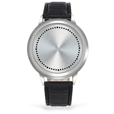 Fancy Water Resistant LED Touch Screen Watch - WHITE  Mobile