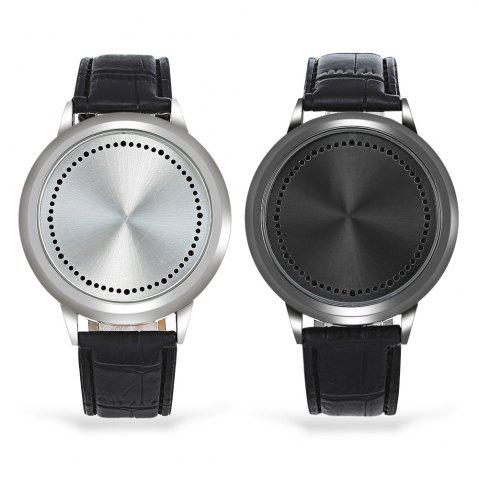 Fancy Water Resistant LED Touch Screen Watch - BLACK  Mobile