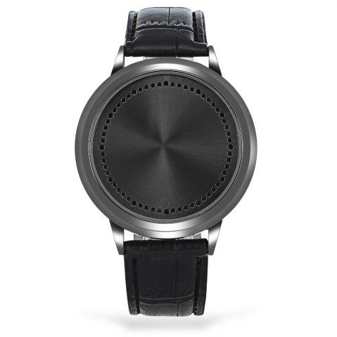 Affordable Water Resistant LED Touch Screen Watch - BLACK  Mobile