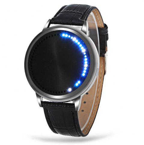 Discount Water Resistant LED Touch Screen Watch BLACK