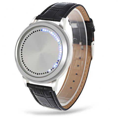 Affordable Water Resistant LED Touch Screen Watch WHITE
