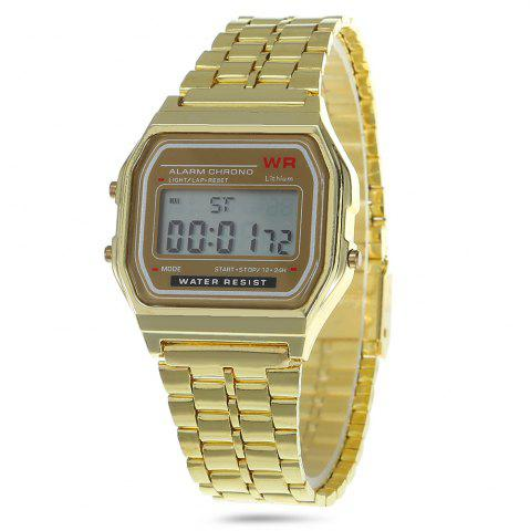 Affordable Multifunctional Digital Men Watch with Stainless Steel Strap - GOLDEN  Mobile