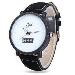 Clot Fashionable Male Big Dial Quartz Watch
