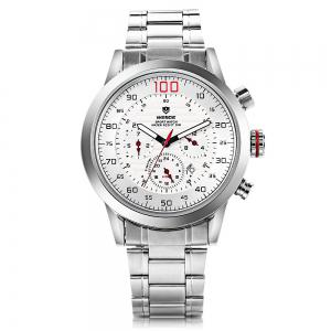 Weide wh3311 Men Water Resistance Date Function Japan Quartz Watch with Stainless Steel Band -