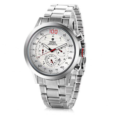 Fancy Weide wh3311 Men Water Resistance Date Function Japan Quartz Watch with Stainless Steel Band