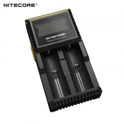 Nitecore D2 Detective Charger with LCD Screen for IMR Li-ion LiFePO4 NiMH NiCd Batteries -