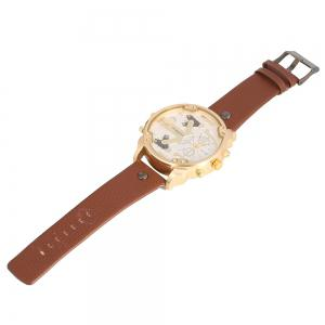 Shiweibao A3137 Double Movt Quartz Watch Male Leather Band Wristwatch -