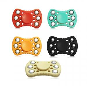 ABS ADHD Fidget Spinner with R188 Bearing Stress Relief Toy Relaxation Gift for Adults - RED
