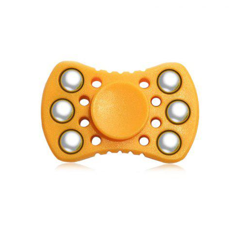 Outfit ABS ADHD Fidget Spinner with R188 Bearing Stress Relief Toy Relaxation Gift for Adults ORANGE