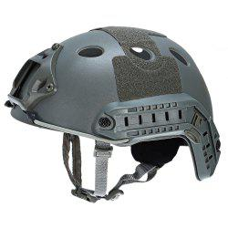 Casque de protection léger Crashworthy pour CS Airsoft Paintball Game - Gris