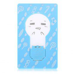 Mini LED Wallet Credit Card Light Portable Pocket Night Lamp Folding Bulb - BLUE