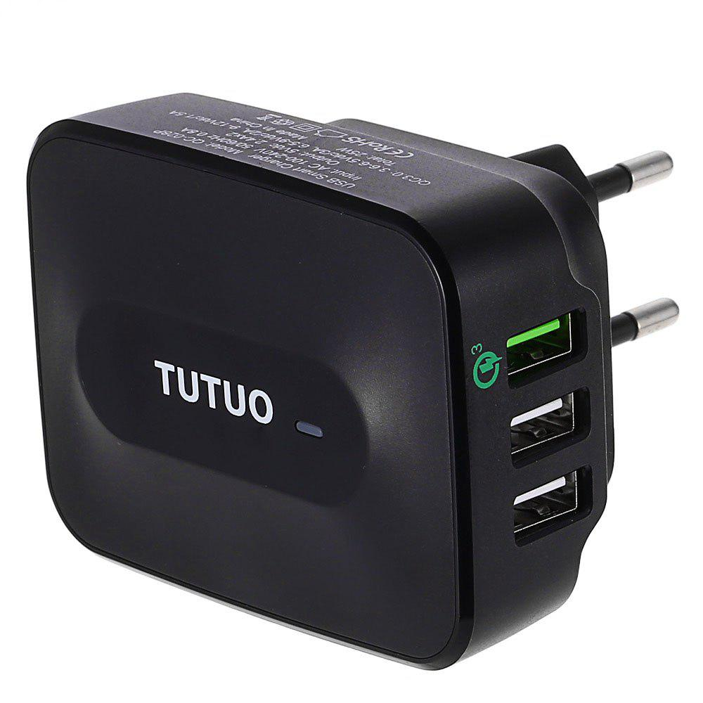 New TUTUO QC - 028P Qualcomm Certified Quick Charge 3.0 Power Adapter Wall Charger Triple USB Ports