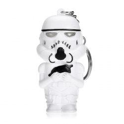 Darth Vader Style Key Ring Voice Light Control Bulk Keychain - WHITE