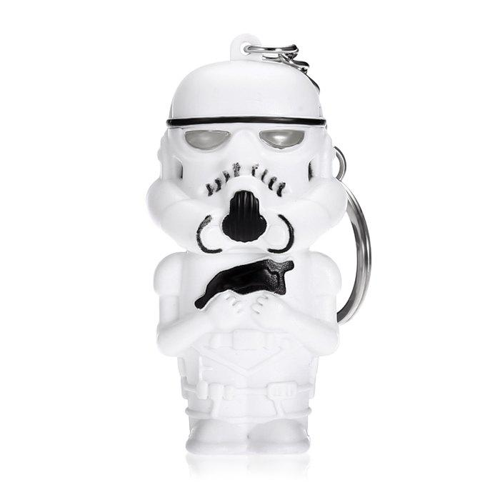 Darth Vader Style Key Ring Voice Light Control Bulk KeychainHOME<br><br>Size: STOMTROOPER STYLE; Color: WHITE; Type: Keychain; Material: Electronic Components; Product weight: 0.0160 kg; Package weight: 0.0400 kg; Product size (L x W x H): 6.00 x 3.50 x 7.00 cm / 2.36 x 1.38 x 2.76 inches; Package size (L x W x H): 7.00 x 7.50 x 4.50 cm / 2.76 x 2.95 x 1.77 inches; Package Contents: 1 x Keychain;