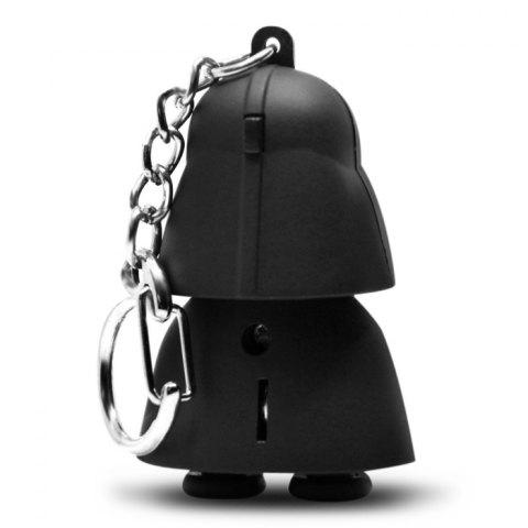 Cheap Darth Vader Style Key Ring Voice Light Control Bulk Keychain - DARTH VADER STYLE BLACK Mobile