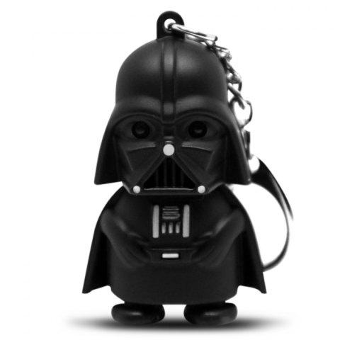 Store Darth Vader Style Key Ring Voice Light Control Bulk Keychain - DARTH VADER STYLE BLACK Mobile