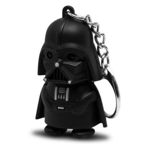 Darth Vader Style Key Ring Voice Light Control Bulk Keychain - Black - Darth Vader Style