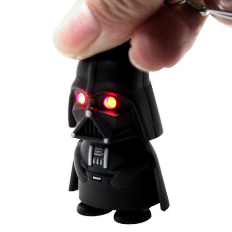 Sale Darth Vader Style Key Ring Voice Light Control Bulk Keychain - DARTH VADER STYLE BLACK Mobile