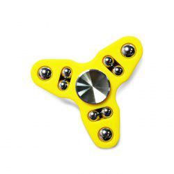 Triangle Gyro Style Stress Reliever Pressure Reducing Toy for Office Worker - YELLOW