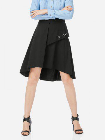 Fashion Short A Line Skirt - M BLACK Mobile