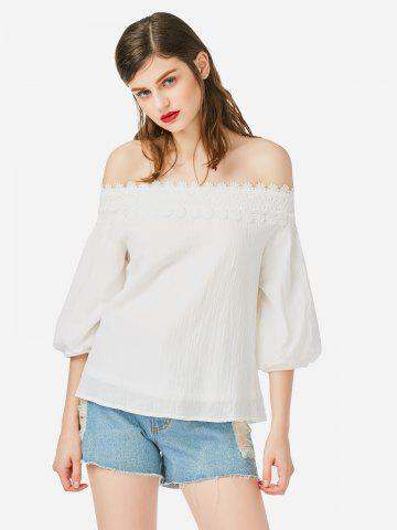 ZAN.STYLE Off Shoulder Lace Blouse