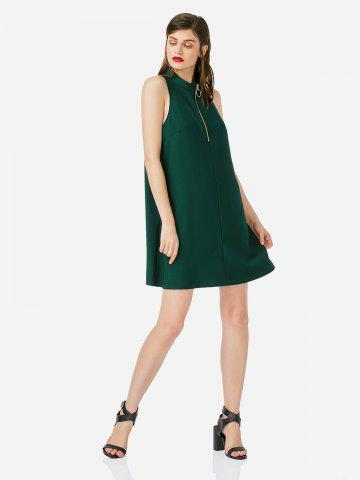 Zip Sleeveless Dress