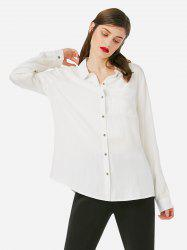 ZAN.STYLE Stand Up Collar Blouse -
