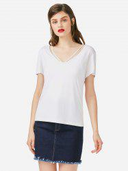 ZAN.STYLE Strappy Front T-shirt -