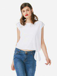 ZAN.STYLE Sleeveless Side Knotted Top -