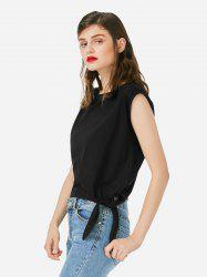 Sleeveless Side Knotted Top -
