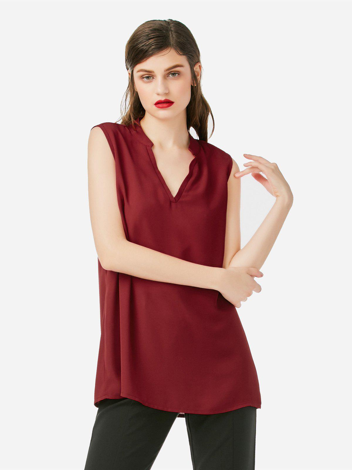Shops V-neck Sleeveless Tank Top