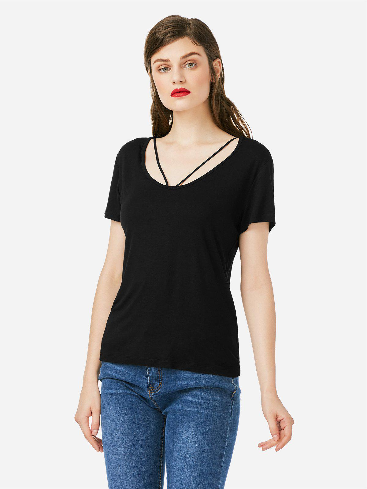 Sale ZAN.STYLE Strappy Front T-shirt