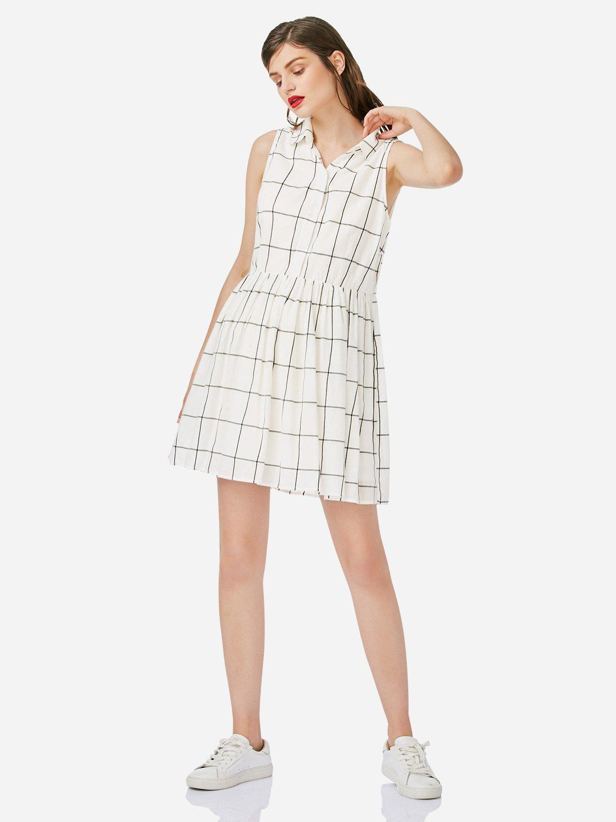 Fancy ZAN.STYLE Sleeveless Shirt Dress