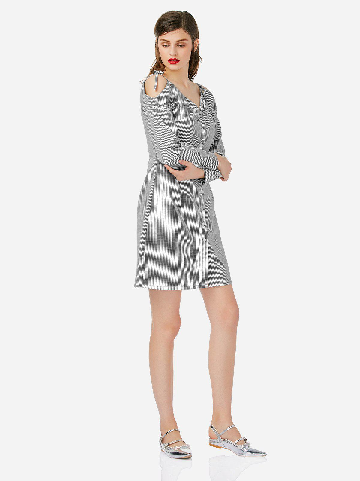 Outfit ZAN.STYLE Off Shoulder Shirt Dress