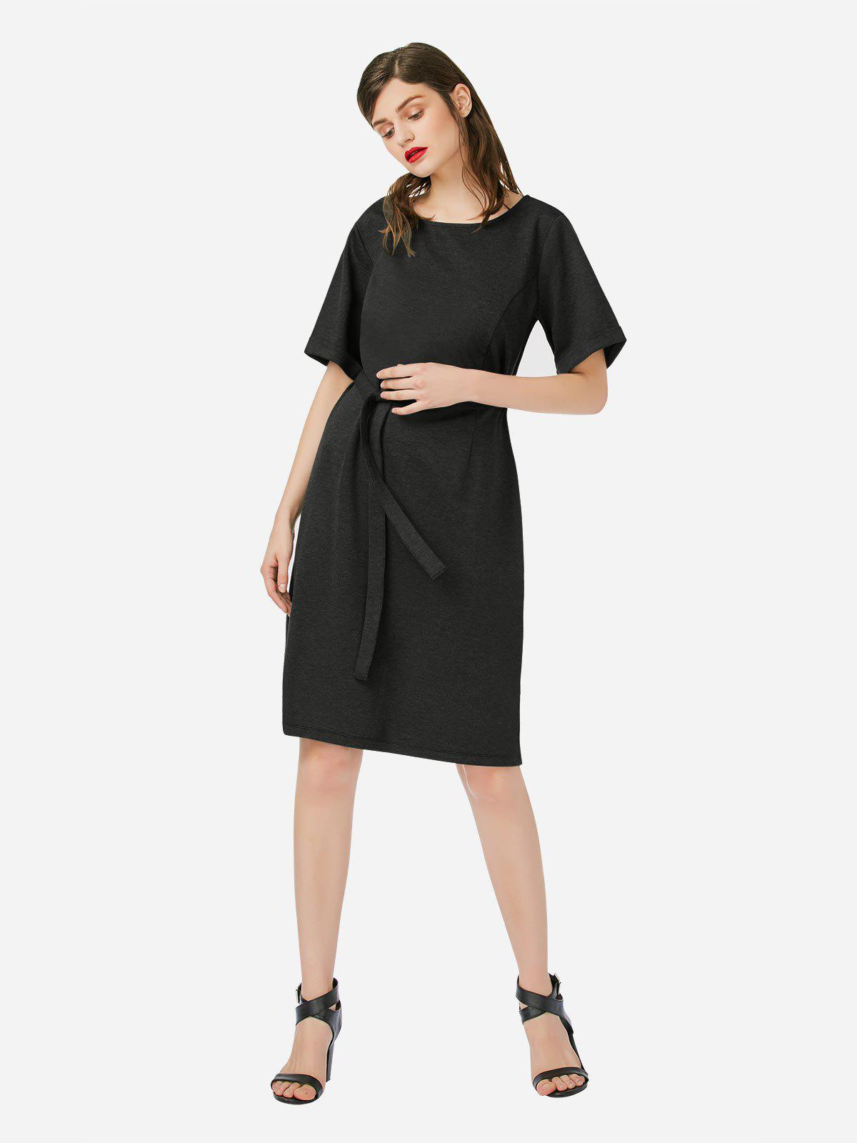 Outfits ZAN.STYLE Crew Neck Dress