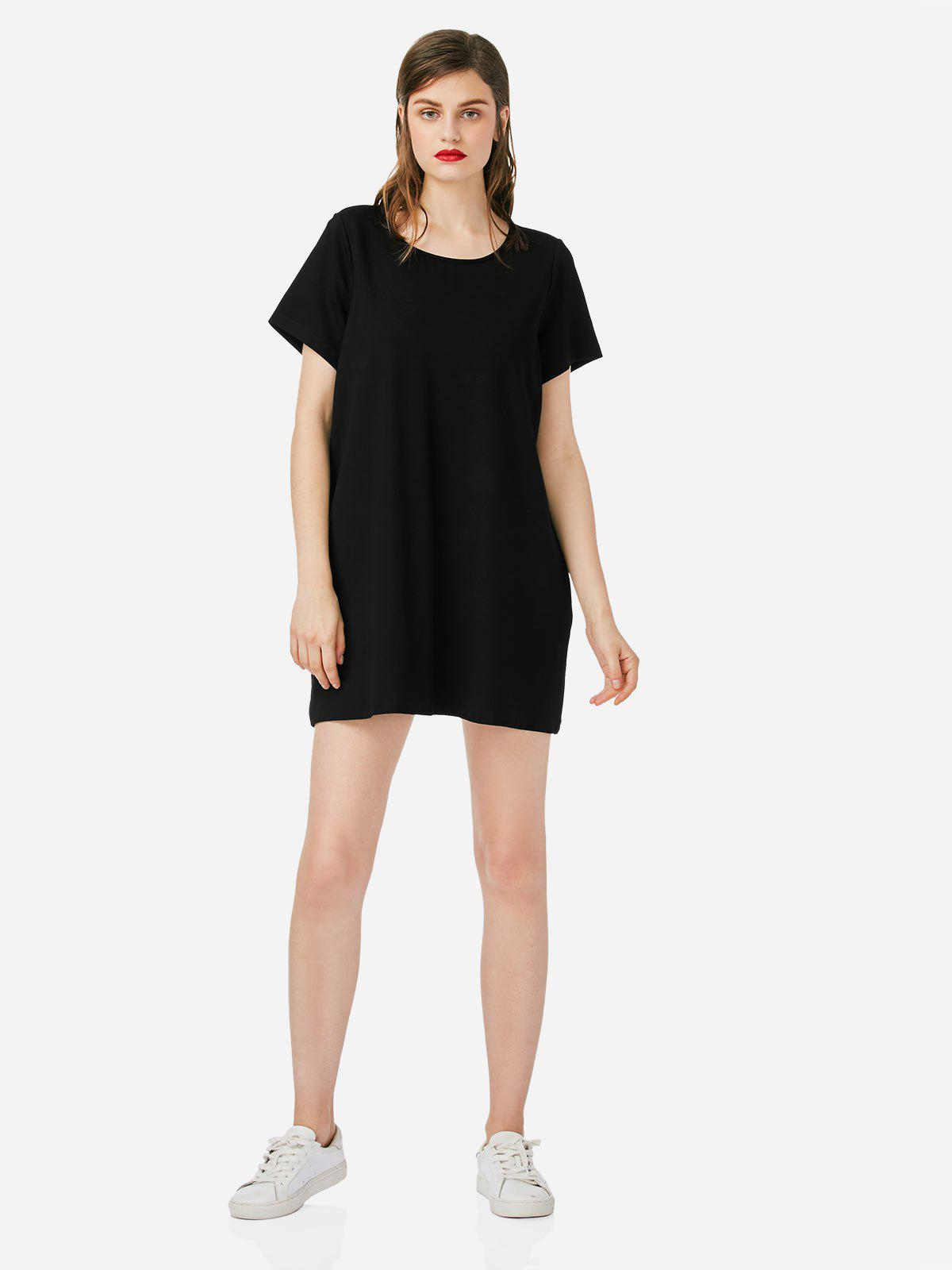 Affordable Crew Neck T-shirt Dress
